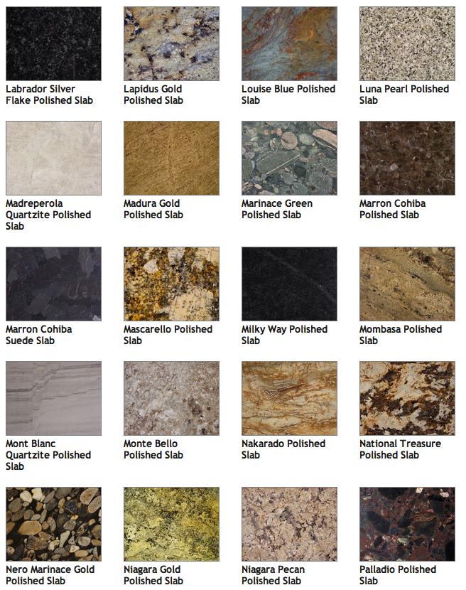 Pick Your Granite Color Indianapolis Countertops